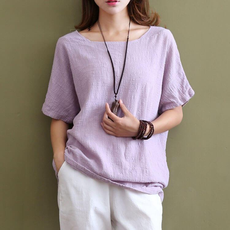blusa de lino